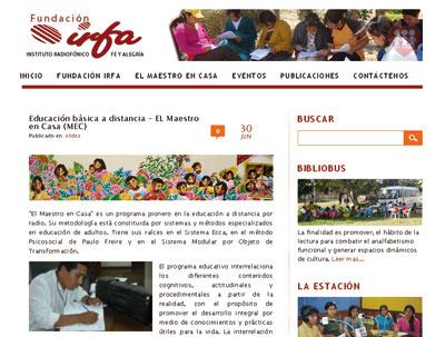 """""""El Maestro en Casa"""" (www.irfabolivia.org/?p=31)."""
