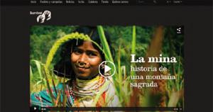 Página oficial de La mina. Historia de una montaña sagrada (2009)