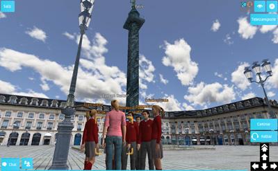 Visitas virtuales a lugares virtuales con guía.