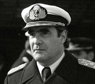 Emilio Eduardo Massera, militar de la Armada argentina.