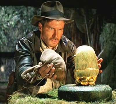 Indiana Jones en busca del arca perdida (1981) de Steven Spielberg.