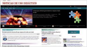 Home de Noticias de uso didáctico (www.noticiasusodidactico.com).