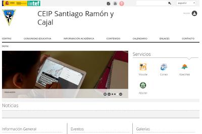Web del CEIP Santiago Ramón y Cajal.