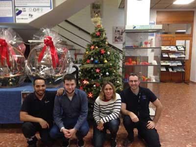Proyecto estrellas de Navidad: Oliver Campesino, Ekain Rubio, Ibane Iturriozbeitia, y Luis Enrique Herraiz.