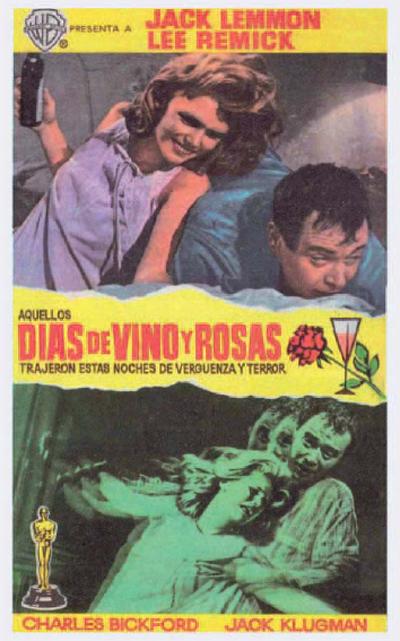 Días de vino y rosas (1962) de Blake Edwards.