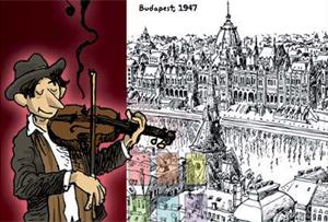 Ilustración de Alfonso Zapico para su obra Café Dublinés