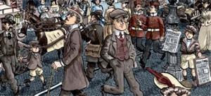 Ilustración de la obra Dublinés de Alfonso Zapico