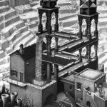 Cascada (1961) de M.C. Escher.